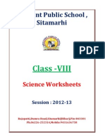 VIII Science-Worksheets Session 2012 2013
