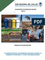Clasificación de Residuos Sólidos según su origen