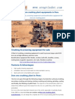 How to form a Iron Ore Mining Processing Line