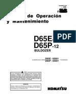 Manual Ope Mant Bulldozer d65e p Komatsu
