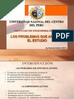 PROBLEMAS QUE AFECTAN EL ESTUDIO-COMPRENSIÓN LECTORA-3-4 CLASE