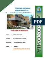APLICACIÓN DE HERBICIDAS
