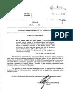 Senate Bill No 77 - Plea Bargaining Act of 2013 (Filed by Senator TG Guingona)