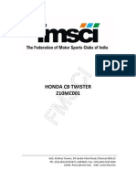 Honda CB Twister(110cc) User Manual