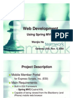 Web Development Using Spring MVC