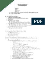 Legal Profession Syllabus
