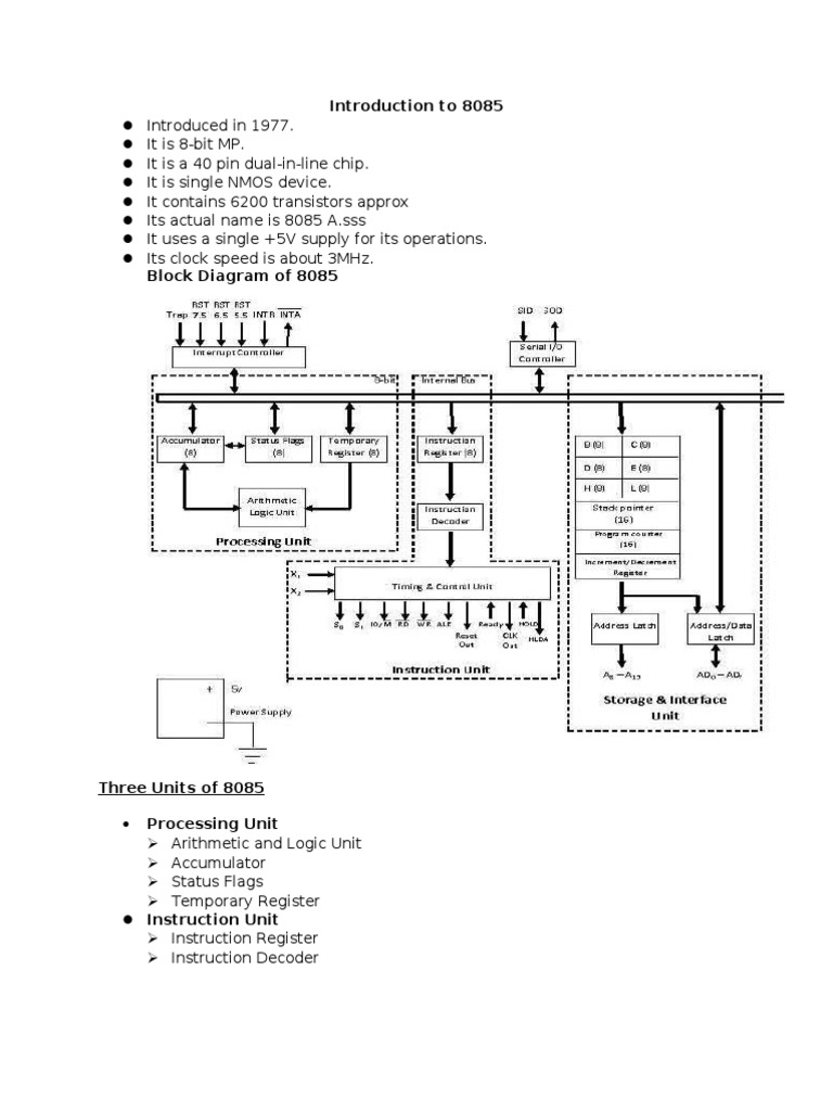 Logic Diagram Of 8085 Wiring Library Air Conditioning Schematic 15 Free Electronic Circuits Notes Instruction Set Office Equipment