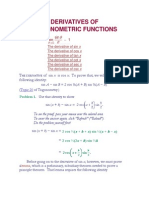 1.Derivatives of Trigonometric Functions