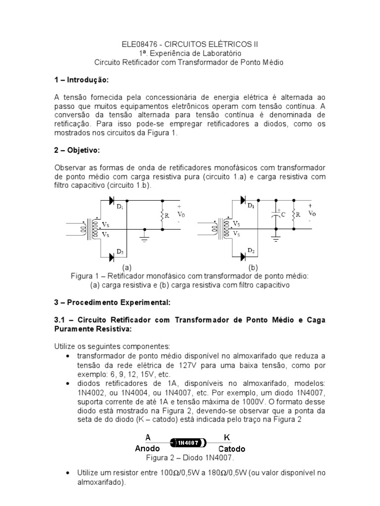 Circuito Retificador : Lab circuitos