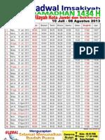 Jadwal Imsakiyah Ramadhan 1434 H Wilayah Kota Jambi