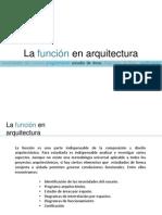 La función en arquitectura