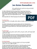 Doa Harian Bulan Ramadhan