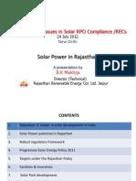 Solar Power in Rajasthan_Mr. B.K.makhija (RRECL)_24.07.2012