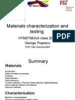 Materials Characterization and Testing