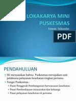 Lokakarya Mini Puskesmas