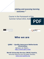 Defining, translating and assessing learning outcomes