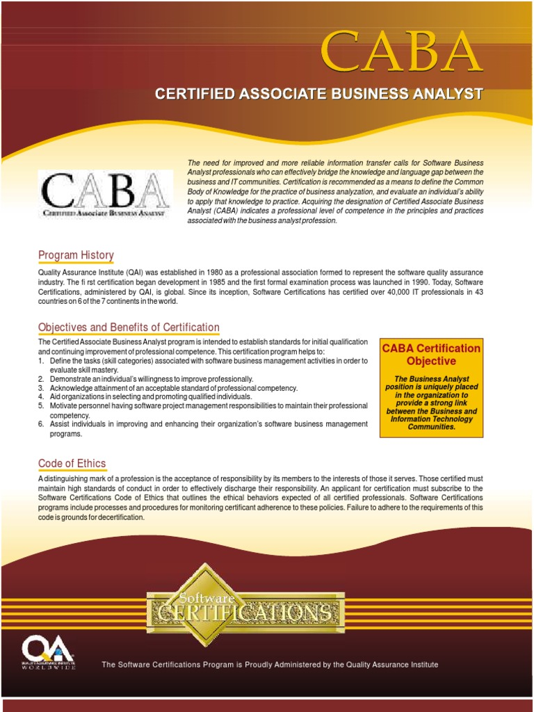 Caba certification professional certification 1betcityfo Choice Image