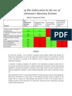 Cost Reduction Through Zero Maintenance Spraying Systems