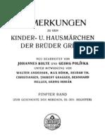 Bolte & Polívka - Anmerkungen zu den Kinder- und Hausmärchen der Brüder Grimm 5