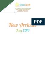 NEW ARRIVALS Honeybaby Newsletter Jul2013