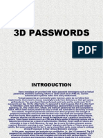 3d Passwords