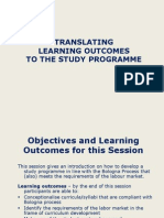 Translating learning outcomes to the study programmer