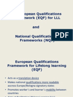 The European Qualifications Framework (EQF) for LLL and National Qualifications Frameworks (NQF)