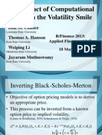 The Impact of Computational Error on the Volatility Smile_Chance and Hanson Et Al_2013_Slides