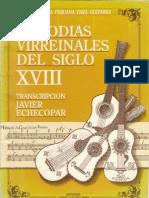 (Música peruana para guitarra) Javier Echecopar (Transcriptor)-Melodías virreinales del siglo XVIII (Guitar Scores)-Enrique Carrillo Thorne & Javier Echecopar (1992)