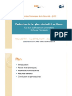 Evaluation de La Cybercriminalite Au Maroc