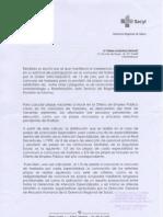 Carta Explicativa Jefa Sercvicio Registro Seleccion y Provision SACyL