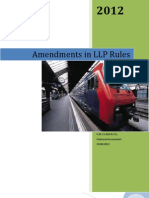 Amendments in LLP Rules