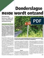 HBVL 22/07/'13 - 150ha Donderslagse heide wordt ontzand