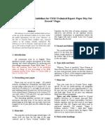 Tech Report Format