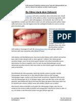 Weiße Zähne dank dem Zahnarzt