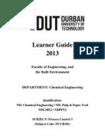Study Guide Instrumentation Process Control