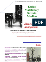 Errico Malatesta y Saverio Merlino - Elecciones y Anarquismo