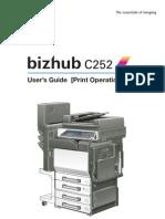 Bizhub c252 Print Oper User Guide