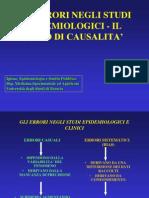 Epi 11 - Causalità - Errori casuali e sistematici - CT