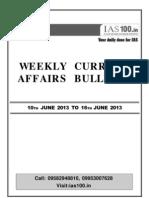 Weekly 10 June to 16 June 2013