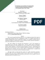 The Role of Technology Vis-A-Vis Communication