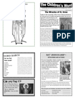 Children's Word bulletin for Sunday, July 28, 2013