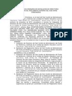 ACTA DE REUNION ORDINARIA DE INSTALACIÓN DE DIRECTORIO