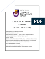 Front Cover Lab Chm 138