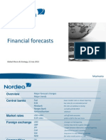 Nordea Bank, Financial Forecast Update, July 22, 2013.