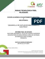 DESARROLLO DE UN PLAN DE MANTENIMIENTO ELÉCTRICO