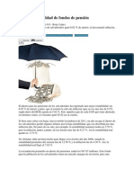 Mejora rentabilidad de fondos de pensión