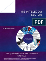 Management Information system in Telecom sector