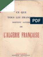 Ce que tous les français devraient savoir de l'Algérie française