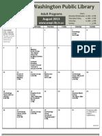 WWPL August 2013 Calendar